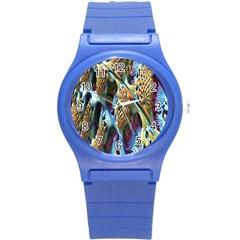Background, Wallpaper, Texture Round Plastic Sport Watch (S)