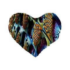 Background, Wallpaper, Texture Standard 16  Premium Flano Heart Shape Cushions