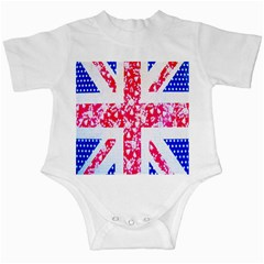 British Flag Abstract British Union Jack Flag In Abstract Design With Flowers Infant Creepers