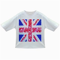 British Flag Abstract British Union Jack Flag In Abstract Design With Flowers Infant/toddler T Shirts