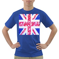 British Flag Abstract British Union Jack Flag In Abstract Design With Flowers Dark T Shirt