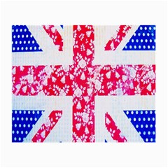 British Flag Abstract British Union Jack Flag In Abstract Design With Flowers Small Glasses Cloth