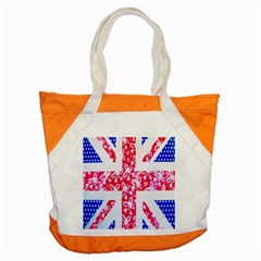 British Flag Abstract British Union Jack Flag In Abstract Design With Flowers Accent Tote Bag