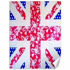 British Flag Abstract British Union Jack Flag In Abstract Design With Flowers Canvas 36  X 48