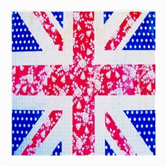 British Flag Abstract British Union Jack Flag In Abstract Design With Flowers Medium Glasses Cloth