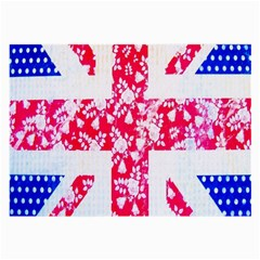 British Flag Abstract British Union Jack Flag In Abstract Design With Flowers Large Glasses Cloth (2-Side)