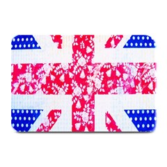 British Flag Abstract British Union Jack Flag In Abstract Design With Flowers Plate Mats