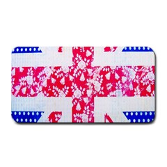 British Flag Abstract British Union Jack Flag In Abstract Design With Flowers Medium Bar Mats