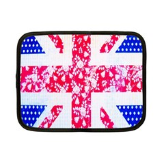 British Flag Abstract British Union Jack Flag In Abstract Design With Flowers Netbook Case (small)