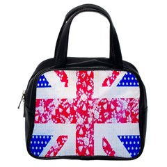 British Flag Abstract British Union Jack Flag In Abstract Design With Flowers Classic Handbags (One Side)