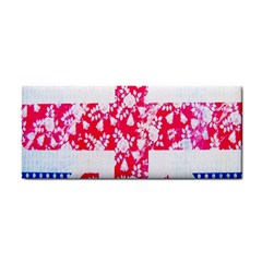 British Flag Abstract British Union Jack Flag In Abstract Design With Flowers Cosmetic Storage Cases