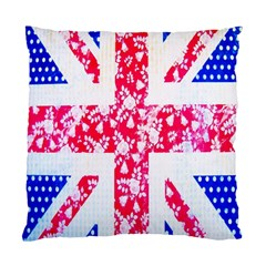 British Flag Abstract British Union Jack Flag In Abstract Design With Flowers Standard Cushion Case (two Sides)