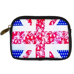 British Flag Abstract British Union Jack Flag In Abstract Design With Flowers Digital Camera Cases