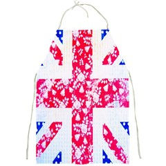 British Flag Abstract British Union Jack Flag In Abstract Design With Flowers Full Print Aprons