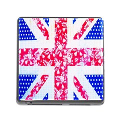 British Flag Abstract British Union Jack Flag In Abstract Design With Flowers Memory Card Reader (square)