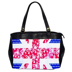 British Flag Abstract British Union Jack Flag In Abstract Design With Flowers Office Handbags (2 Sides)