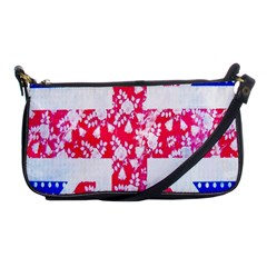 British Flag Abstract British Union Jack Flag In Abstract Design With Flowers Shoulder Clutch Bags