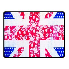 British Flag Abstract British Union Jack Flag In Abstract Design With Flowers Fleece Blanket (Small)
