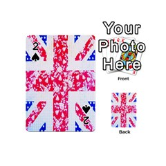 British Flag Abstract British Union Jack Flag In Abstract Design With Flowers Playing Cards 54 (mini)