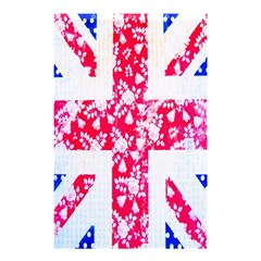 British Flag Abstract British Union Jack Flag In Abstract Design With Flowers Shower Curtain 48  x 72  (Small)