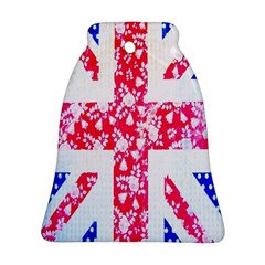 British Flag Abstract British Union Jack Flag In Abstract Design With Flowers Ornament (bell)