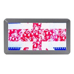 British Flag Abstract British Union Jack Flag In Abstract Design With Flowers Memory Card Reader (Mini)
