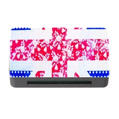 British Flag Abstract British Union Jack Flag In Abstract Design With Flowers Memory Card Reader with CF