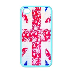 British Flag Abstract British Union Jack Flag In Abstract Design With Flowers Apple iPhone 4 Case (Color)