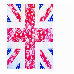 British Flag Abstract British Union Jack Flag In Abstract Design With Flowers Large Garden Flag (Two Sides)