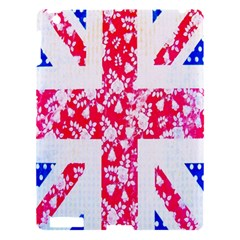 British Flag Abstract British Union Jack Flag In Abstract Design With Flowers Apple Ipad 3/4 Hardshell Case
