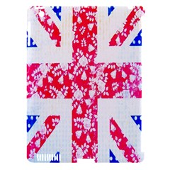 British Flag Abstract British Union Jack Flag In Abstract Design With Flowers Apple Ipad 3/4 Hardshell Case (compatible With Smart Cover)