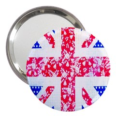 British Flag Abstract British Union Jack Flag In Abstract Design With Flowers 3  Handbag Mirrors