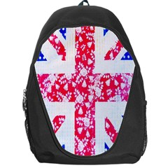 British Flag Abstract British Union Jack Flag In Abstract Design With Flowers Backpack Bag