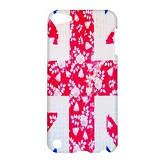 British Flag Abstract British Union Jack Flag In Abstract Design With Flowers Apple Ipod Touch 5 Hardshell Case