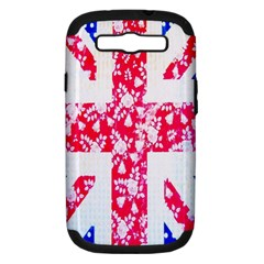 British Flag Abstract British Union Jack Flag In Abstract Design With Flowers Samsung Galaxy S Iii Hardshell Case (pc+silicone)