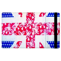 British Flag Abstract British Union Jack Flag In Abstract Design With Flowers Apple iPad 3/4 Flip Case