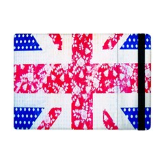 British Flag Abstract British Union Jack Flag In Abstract Design With Flowers Apple Ipad Mini Flip Case