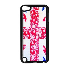 British Flag Abstract British Union Jack Flag In Abstract Design With Flowers Apple Ipod Touch 5 Case (black)
