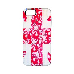 British Flag Abstract British Union Jack Flag In Abstract Design With Flowers Apple iPhone 5 Classic Hardshell Case (PC+Silicone)