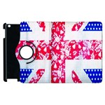 British Flag Abstract British Union Jack Flag In Abstract Design With Flowers Apple iPad 2 Flip 360 Case Front