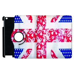 British Flag Abstract British Union Jack Flag In Abstract Design With Flowers Apple Ipad 3/4 Flip 360 Case