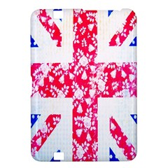 British Flag Abstract British Union Jack Flag In Abstract Design With Flowers Kindle Fire HD 8.9