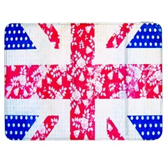 British Flag Abstract British Union Jack Flag In Abstract Design With Flowers Samsung Galaxy Tab 7  P1000 Flip Case