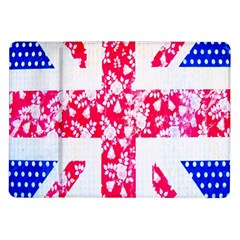 British Flag Abstract British Union Jack Flag In Abstract Design With Flowers Samsung Galaxy Tab 10.1  P7500 Flip Case