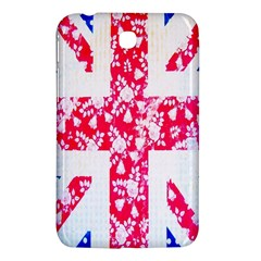 British Flag Abstract British Union Jack Flag In Abstract Design With Flowers Samsung Galaxy Tab 3 (7 ) P3200 Hardshell Case