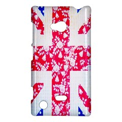 British Flag Abstract British Union Jack Flag In Abstract Design With Flowers Nokia Lumia 720