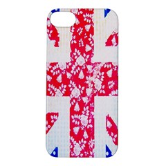 British Flag Abstract British Union Jack Flag In Abstract Design With Flowers Apple iPhone 5S/ SE Hardshell Case