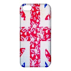 British Flag Abstract British Union Jack Flag In Abstract Design With Flowers Apple iPhone 5C Hardshell Case