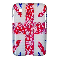 British Flag Abstract British Union Jack Flag In Abstract Design With Flowers Samsung Galaxy Tab 2 (7 ) P3100 Hardshell Case