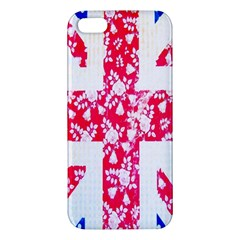 British Flag Abstract British Union Jack Flag In Abstract Design With Flowers iPhone 5S/ SE Premium Hardshell Case